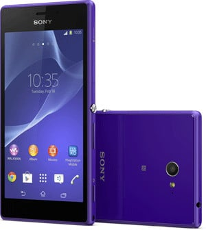 Sony's M2, also available in purple.