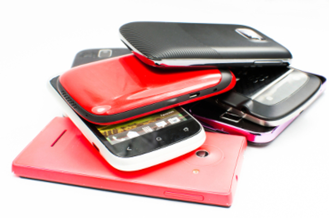 Pile of mobiles