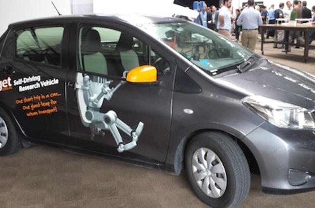 GoGet's autonomous research car Ethel the Yaris