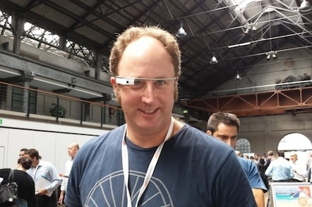 Reg man wears Google Glass