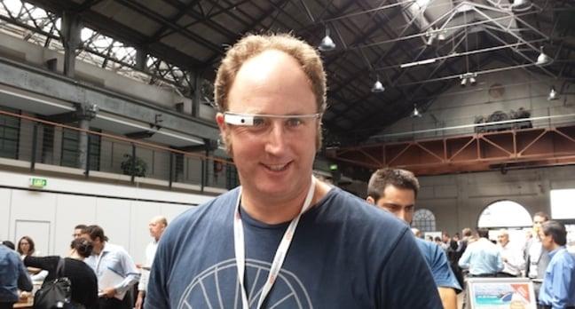 Reg man wears Google Glass