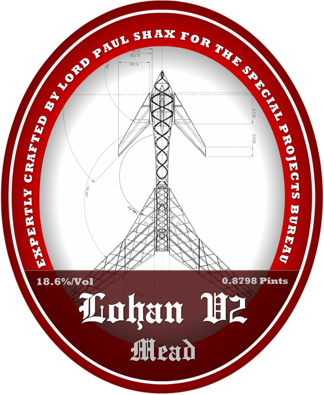 The LOHAN V2 mead label