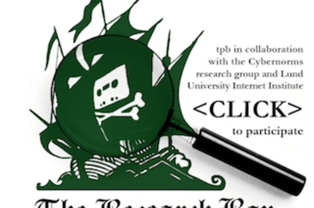 The Pirate Bay's temporary Research Bay logo