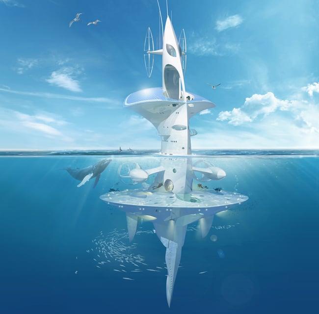 Artist's impression of the SeaOrbiter