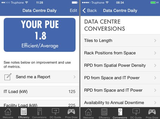 Keysource Data Centre Daily app