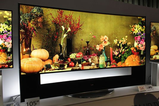 LG's Cinemascope Ratio 105-inch curved OLED TV