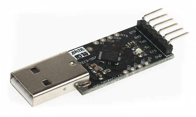 The USB - serial interface to connect the Pi to the Pixhawk
