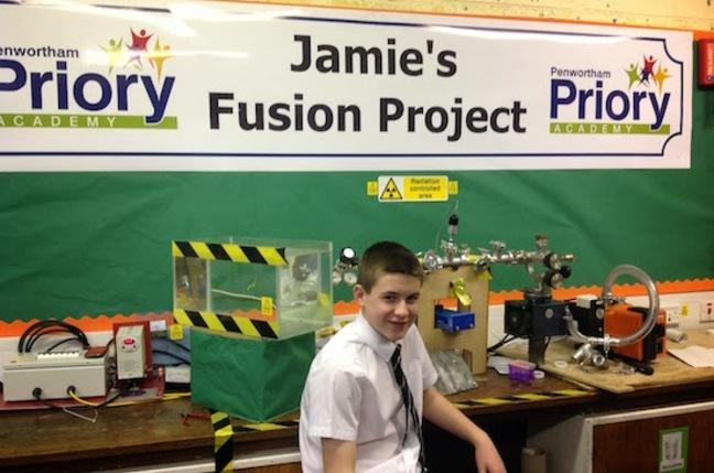 Jamie at his school