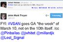 VSAN Tweet GA week of