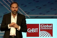 Photo of Mark Shuttleworth at CeBIT 2014