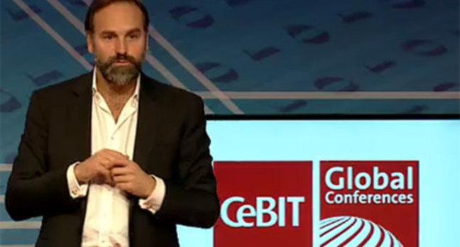 Photo of Mark Shuttleworth at CeBIT 2014