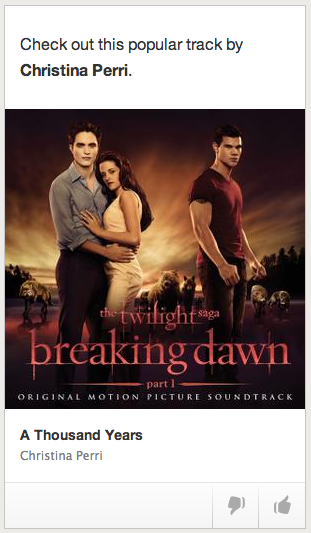 The Twilight Saga – er, no thanks Spotify