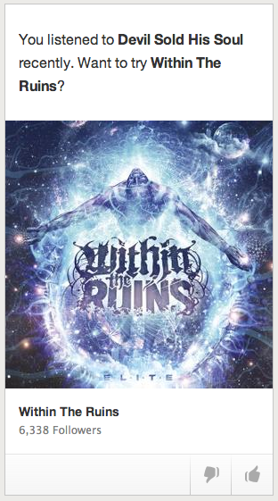 Within the Ruins – another Spotify suggestion