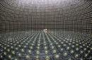 The SuperKamiokande neutrino detector during construction