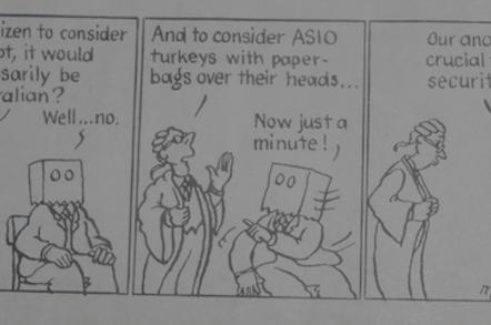 """Matthew Martin's """"turkeys"""" cartoon, 1983"""