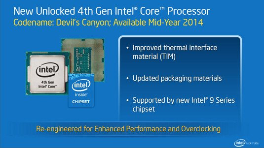 Intel presentation slide: Devil's Canyon