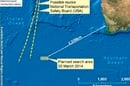 The zone where Australian planes are searching for MH370 debris