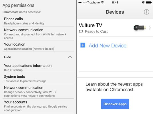 Google Chromecast Android prerequisites and iOS configured