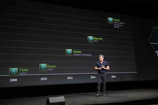 Nvidia CEO Jen-Hsun Huang announces 'Pascal' as next step on GPU-architecture roadmap