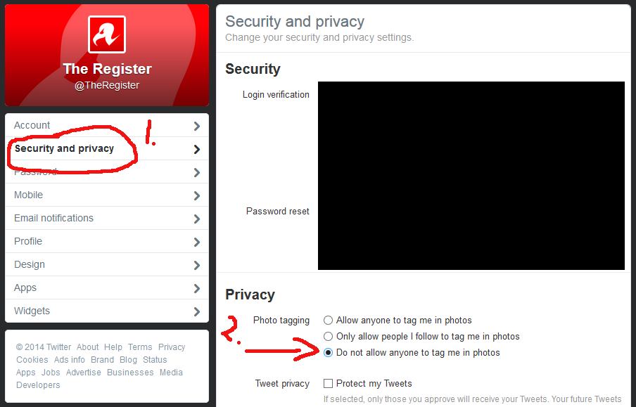 How to disable photo tagging in Twitter