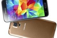 The Samsung Galaxy S5 in 'copper'