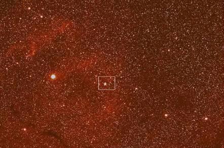 Rosetta comet picture - wide angle