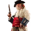 Costumed pirate