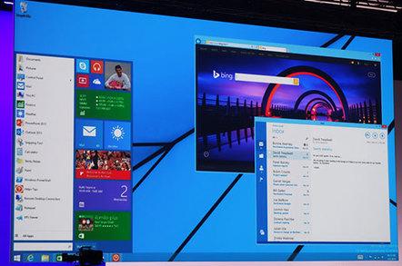 Photo of a future Windows 8.x desktop