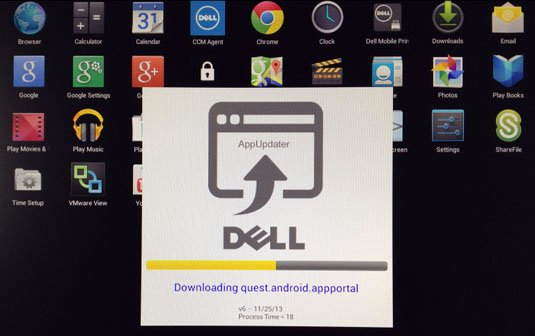 Dell Update Manager dials in to check the app status