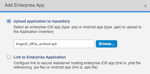Adding an app to the Enterprise Store on Cloud Connect Manager