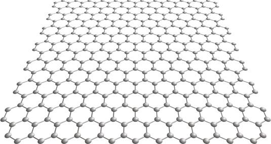 A sheet of graphene