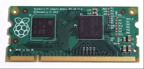 Photo of the Raspberry Pi Compute Module