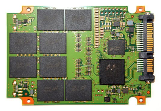 Crucial M550 SSD PCB front