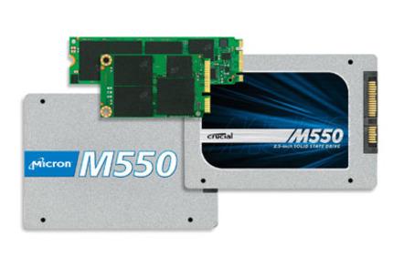 Crucial M550 SSD form factors