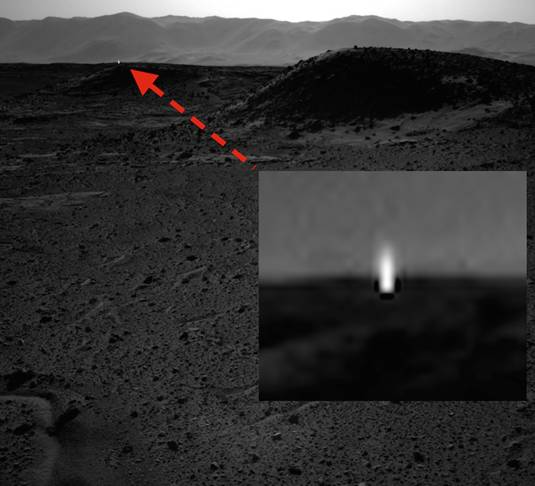Mars light snapped by Curiosity