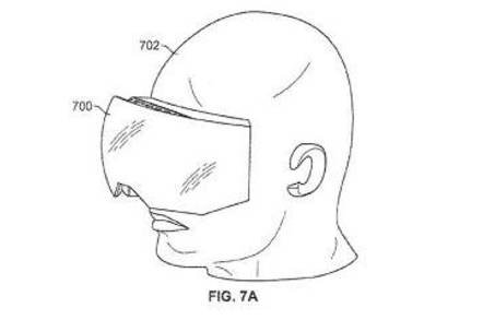 Apple virtual reality headset design