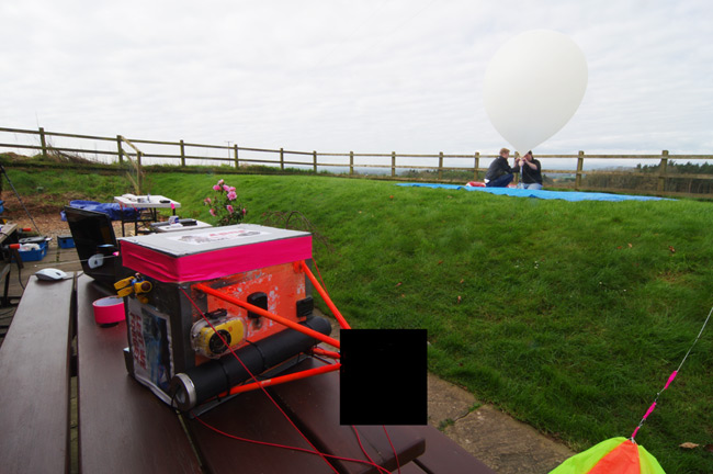 Dave and Anthony fill the balloon for the Judy launch