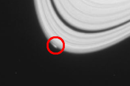 Peggy, a possible new Saturnian moon