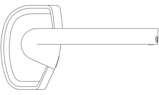 Samsung headset patent-application illustration: from the side