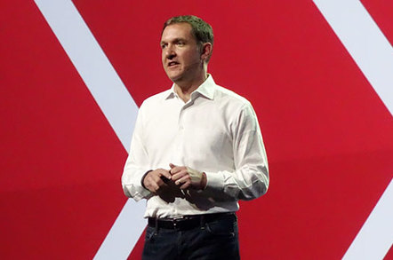 Photo of Red Hat CEO Jim Whitehurst at Red Hat Summit 2014