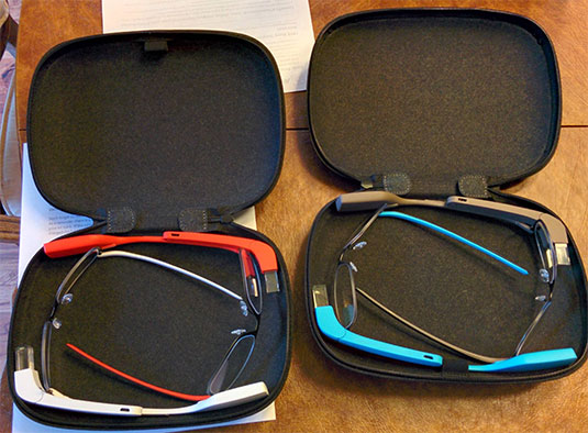 Photo of the Google Glass at-home trial kit