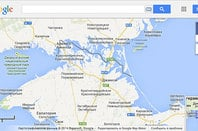 Screenshot of Crimea as seen on Google Maps Russia