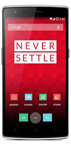 Photo of the OnePlus One handset UI