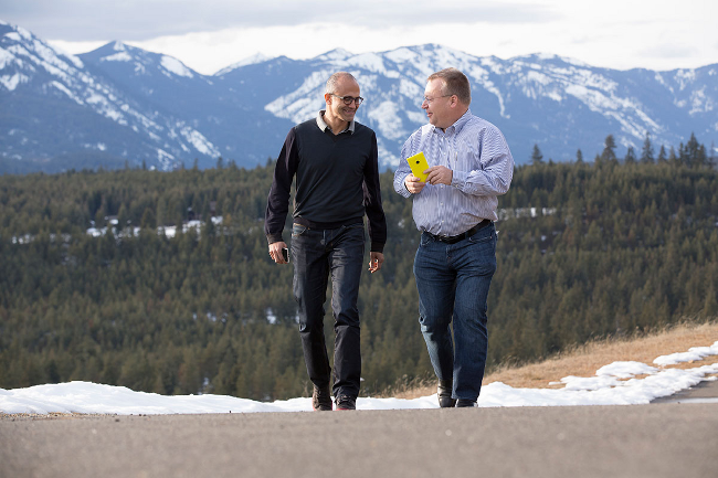 Elop and Nadella, photo: Microsoft