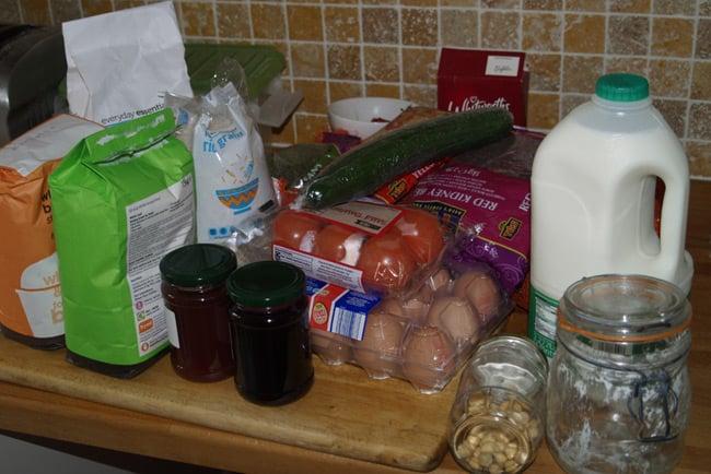 Neil's food stockpile