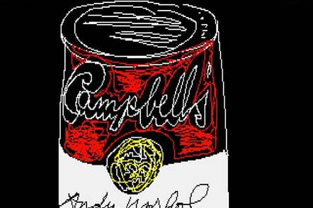 Screenshot of an image Andy Warhol made with an Amiga