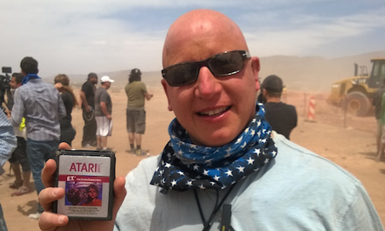 An Atari ET Cartridge recovered from the New Mexico landfill