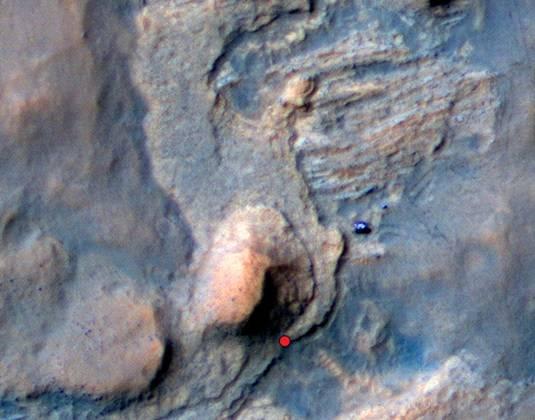 Curiosity's route to Windjana