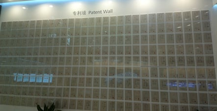 Huawei's patent wall 2014