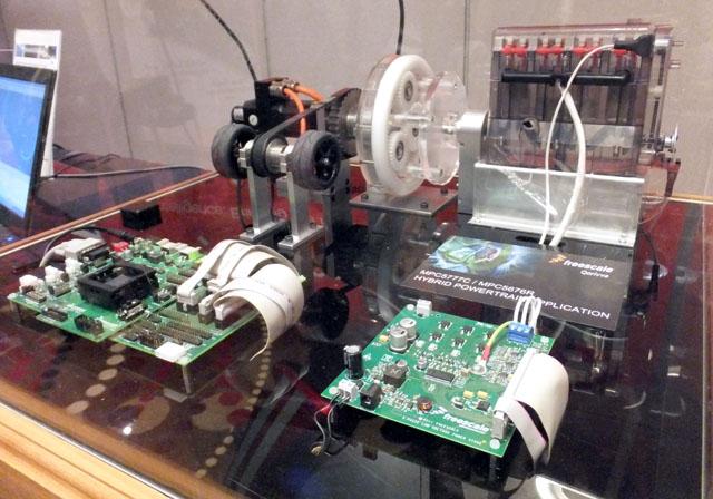 Frescale hybrid powertrain demo set-up